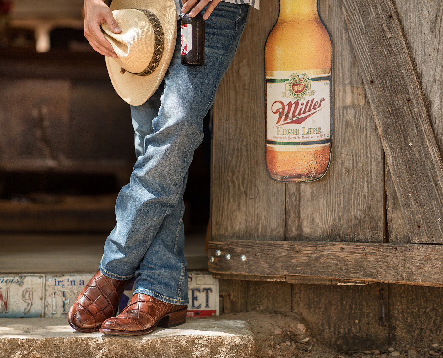 Jason Risner Lifestyle Product Photo of Tecovas Boots  at Luckenbach Texas